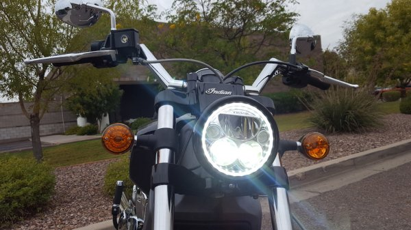Indian Scout Headlight Woes & Direct Replacement LED