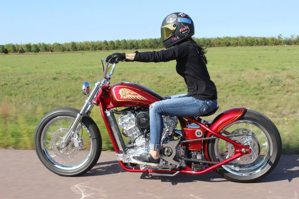 """Indian Motorcycle Orange County >> """"PRINCESS"""" Polished SCOUT chopper 